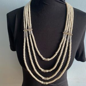 Fabulous Multilayer Faux Pearl Necklace Statement